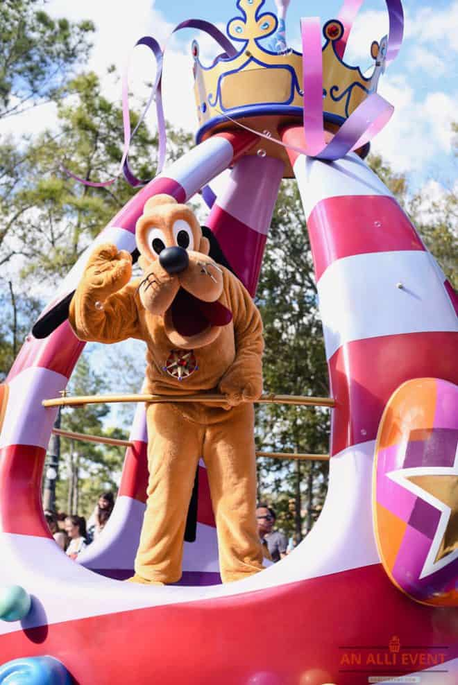 Pluto is Cute - Fantasy Parade - Magic Kingdom Theme Park