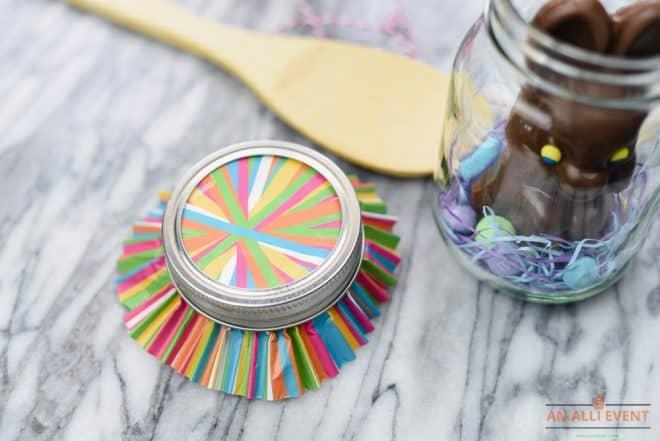 cupcake liner lid for mason jar craft