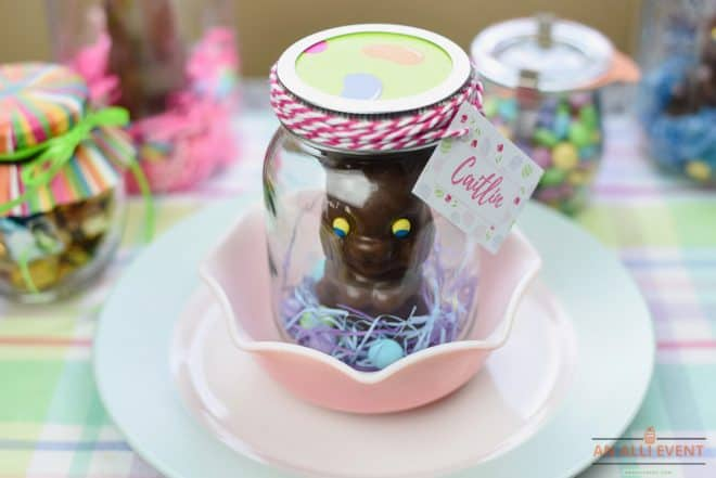 Easy Easter Bunny Mason Jar Craft
