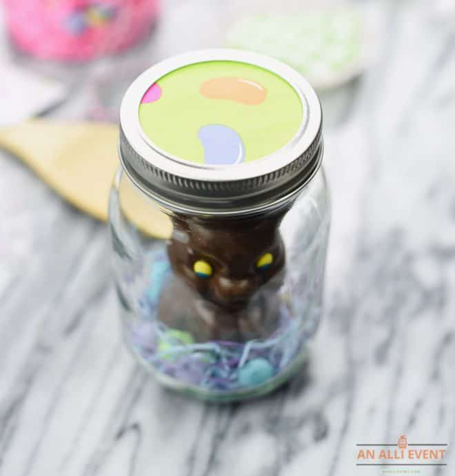 Jelly Bean Topper for Easter Mason Jar Craft