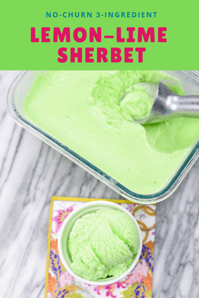 3 Ingredient Lemon-Lime Kool-Aid Sherbet