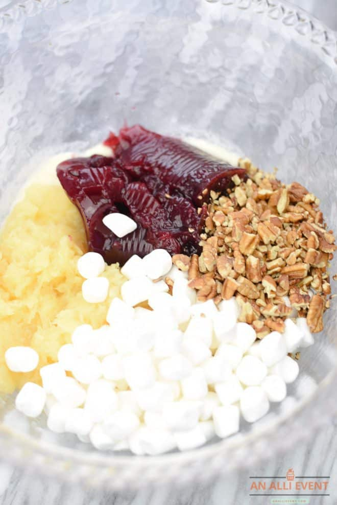 Ingredients for Festive Cranberry Salad