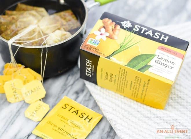 Steep tea bags to make Tropical Tea Punch