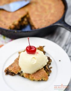 Skillet Chocolate Chip Cookie - Ready to Serve