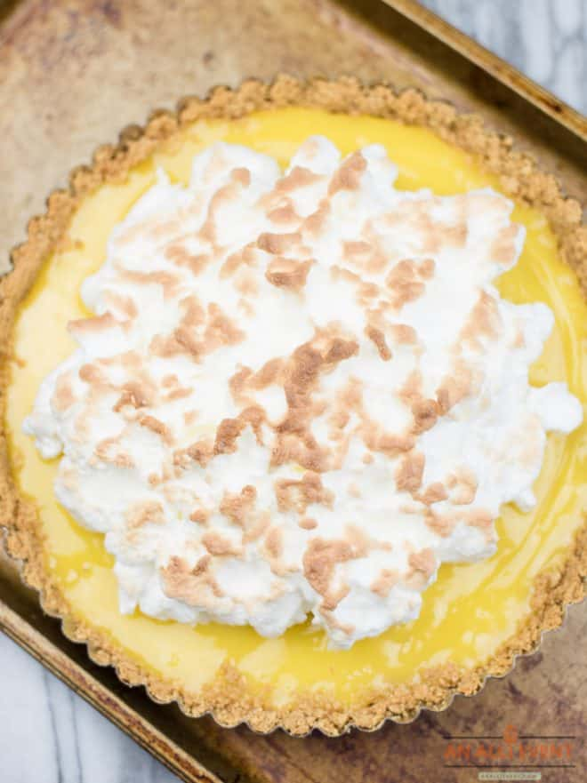 Meyer Lemon Tart with Meringue