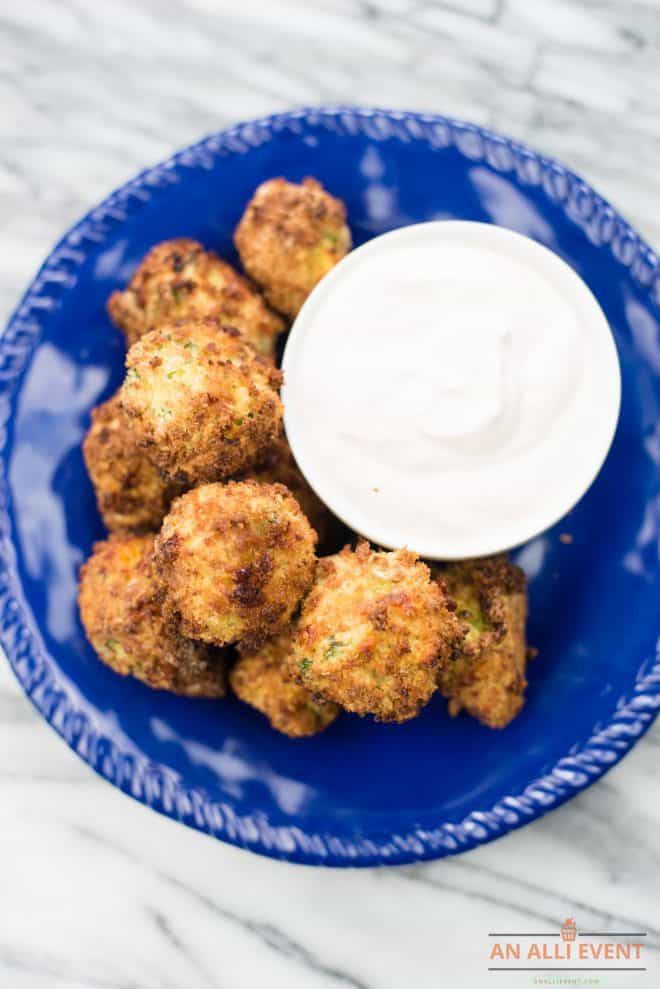 Air Fryer Broccoli Cheese Bites