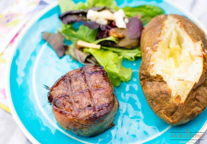 Grilled Bacon Wrapped Filet Mignon