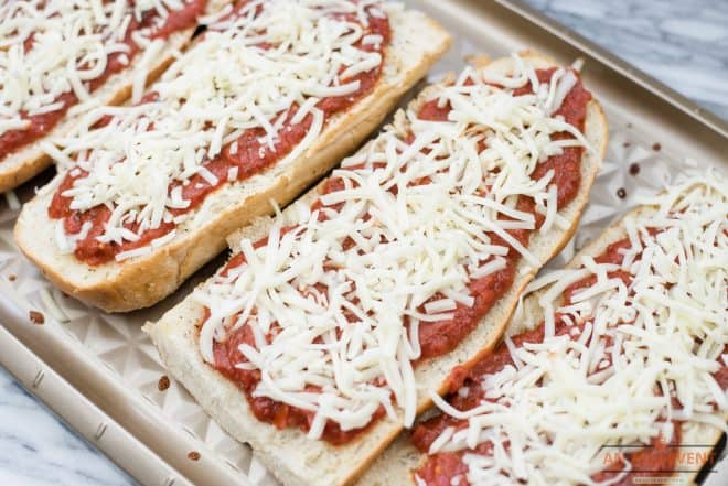 Top pizza with Mahon Cheese