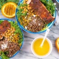 Grilled Salmon Quinoa Bowl