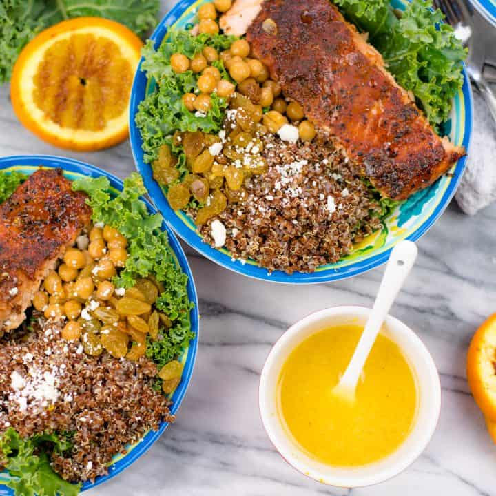 Grilled Salmon Quinoa Bowl