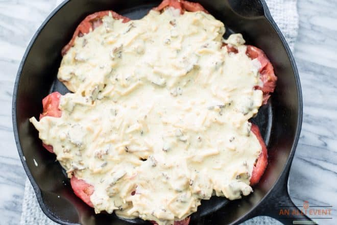 Add the Layer of Cheese for Tomato Cobbler