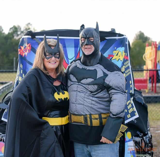 Batgirl and Batman Trunk or Treat