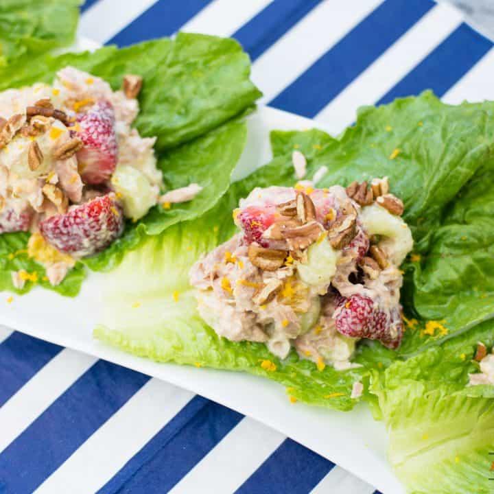 Tuna Fruit Salad with Greek Yogurt Dressing