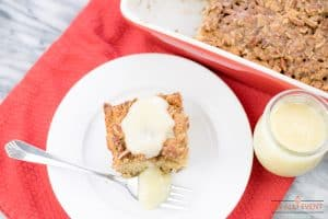 Banana Coffee Cake with Vanilla Sauce