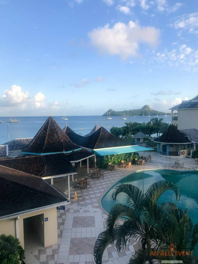 View from our balcony - St. Lucia