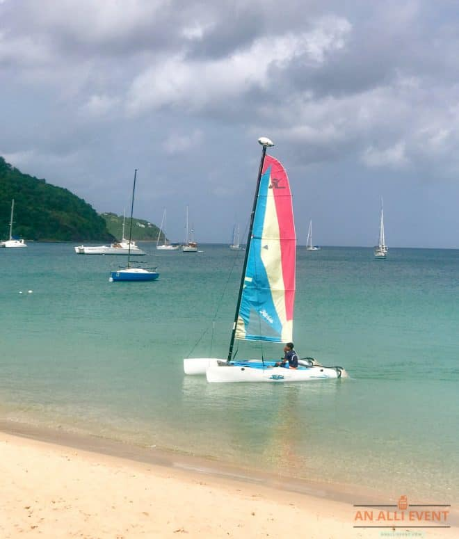Sailboat gliding - St. Lucia