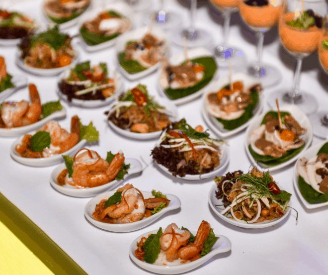 Plated Food for Event