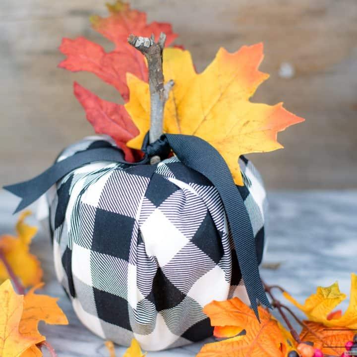 DIY Buffalo Plaid Pumpkins