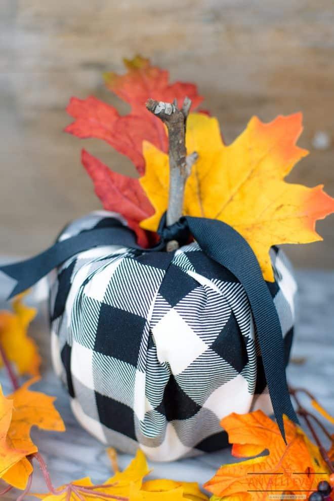 Buffalo Check DIY Pumpkin