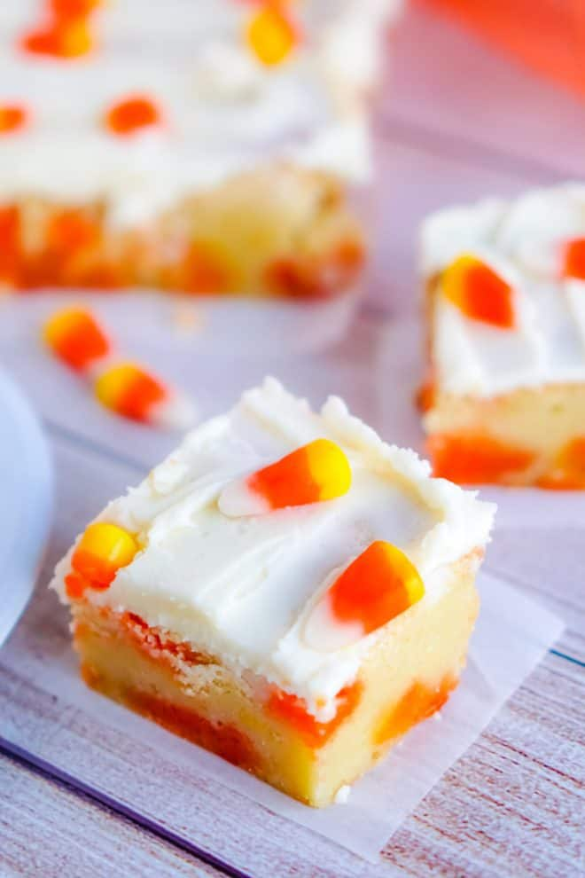 Candy Corn Cookie Bars