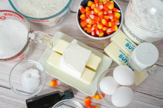 Ingredients to Make Candy Corn Bars