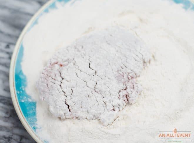 steaks dredged in flour