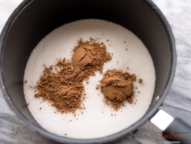 Sugar and Cocoa for Fudge