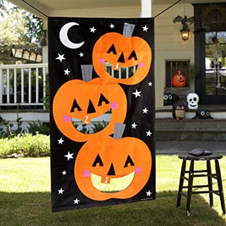 AerWo Pumpkin Bean Bag Toss Games + 3 Bean Bags, Halloween Games for Kids Party Halloween Decorations
