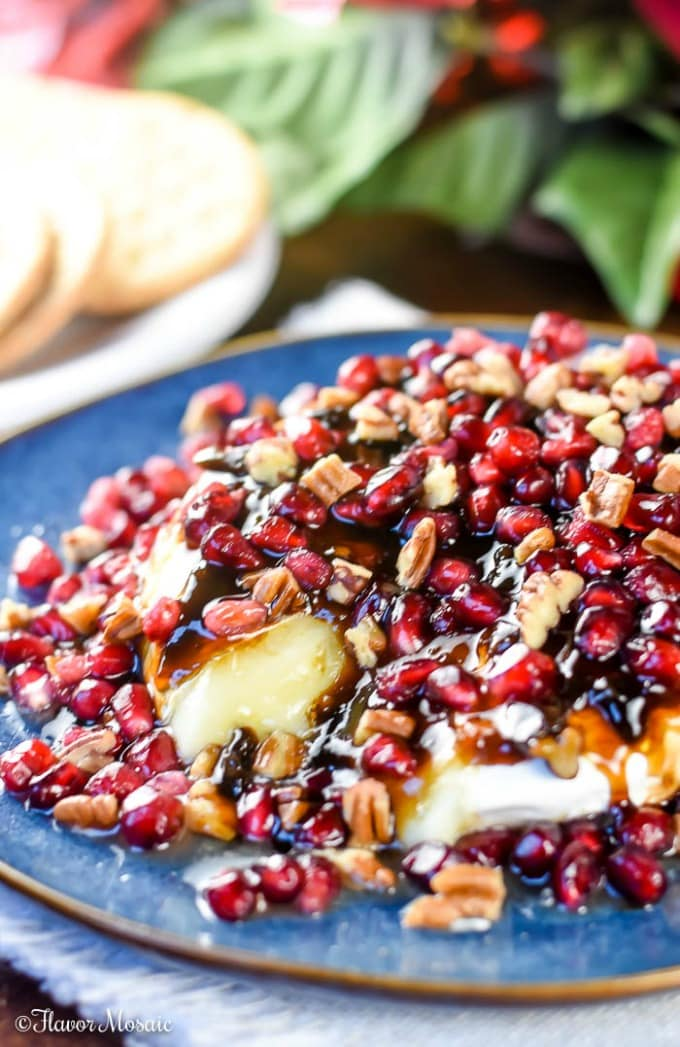 Balsamic Jalapeño Pomegranate Brie Cheese