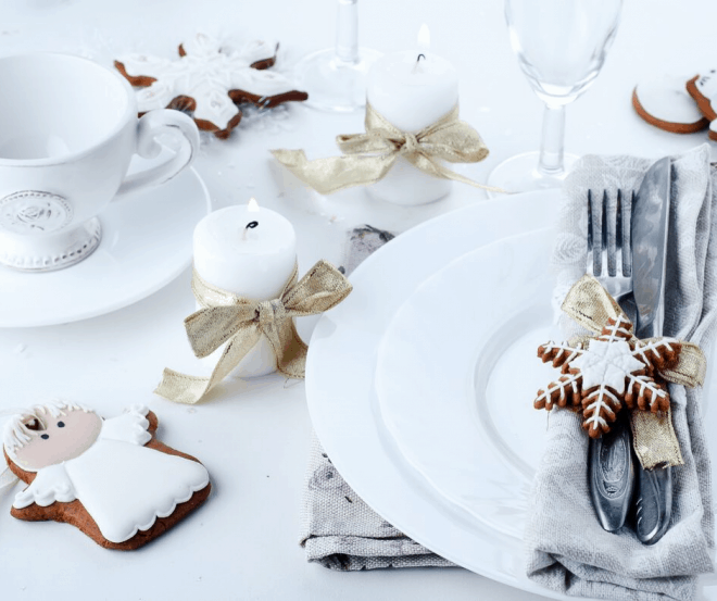 Place Setting for a Christmas party