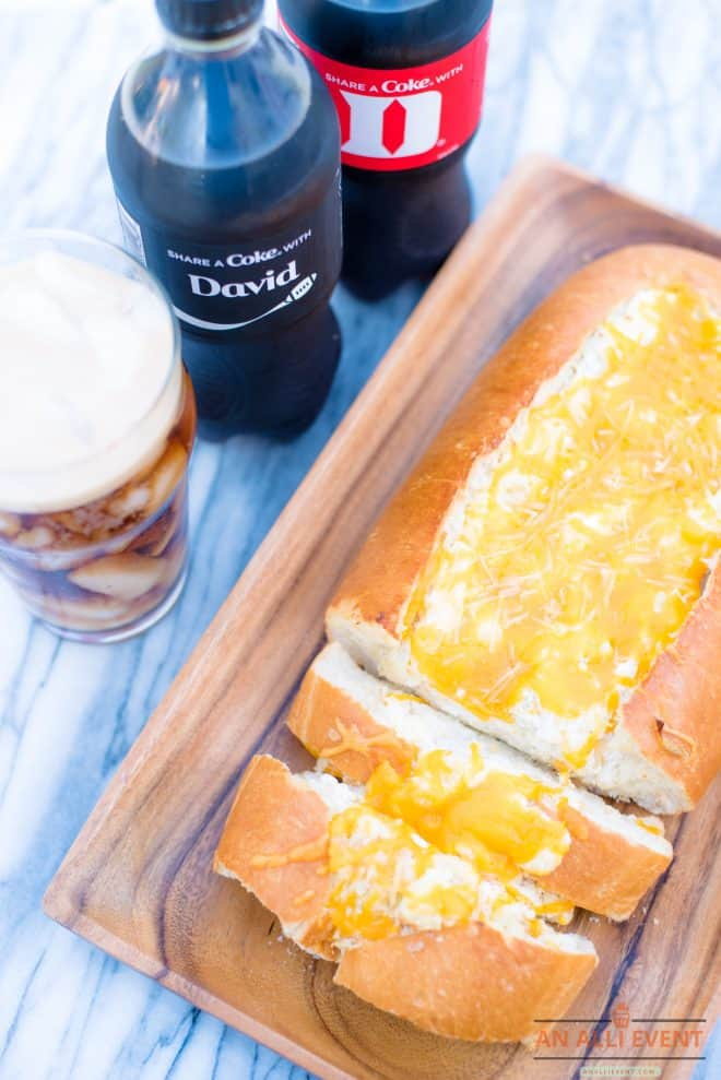 Cheesy Stuffed Bread and Share A Coke