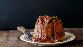Pecan Sticky Buns Recipe for Two (makes 4 buns)
