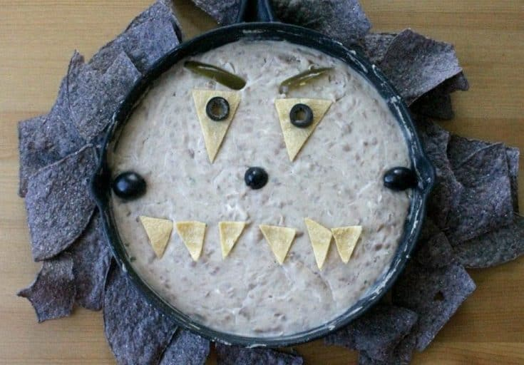 Monster Bean Dip for Halloween