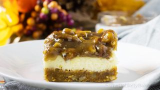 Pecan Pie Cheesecake Bars (Video and Step-by-Step Photos)