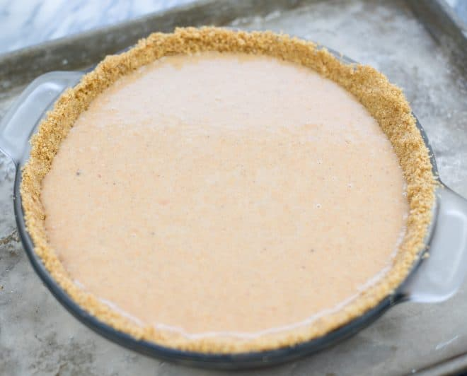 Filling in Pie Crust Before Baking
