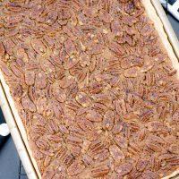 Sheet Pan Pecan Pie