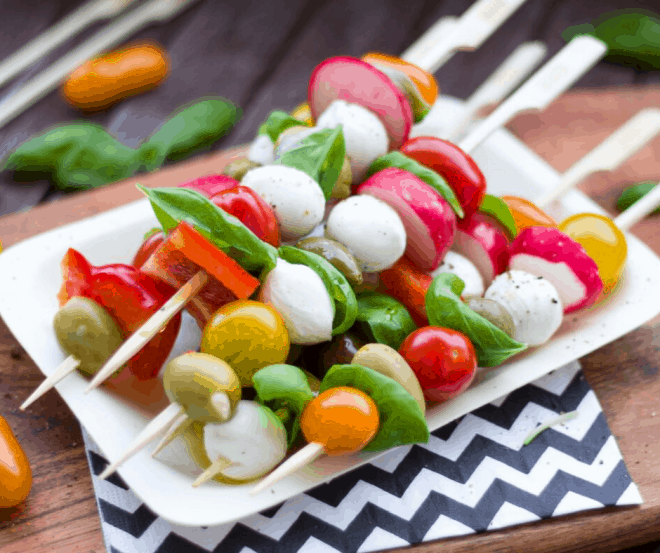 Appetizer Skewers for Appetizer Party