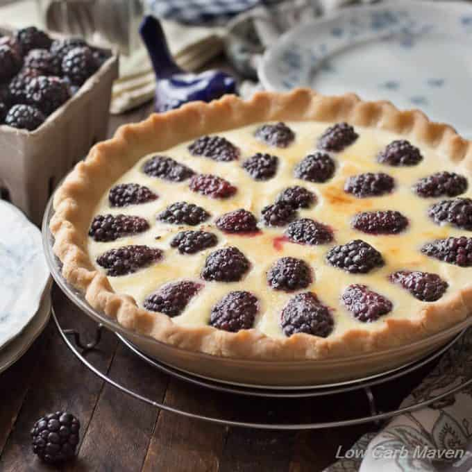 Blackberry Custard Pie with Buttermilk Custard Filling (SF)