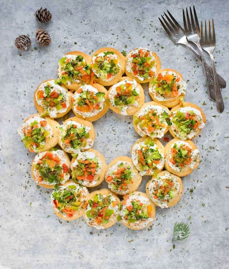 Christmas Wreath Appetizers