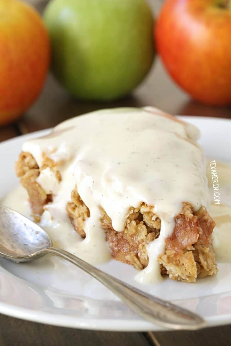 Swedish Apple Pie (gluten-free, vegan, whole grain, dairy-free) - Texanerin Baking