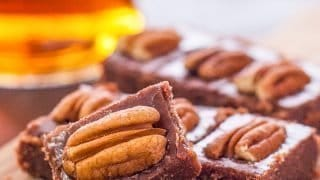 Pecan Bourbon Fudge Recipe is a Boozy Fudgy Treat!