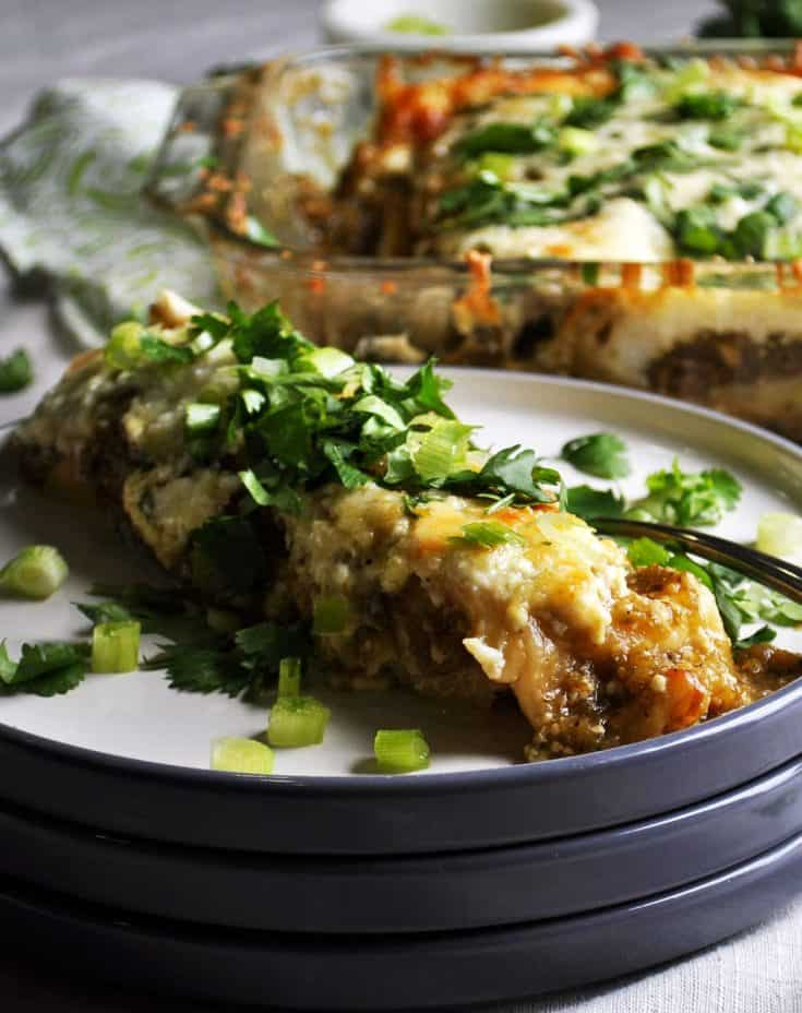 Enchiladas Verdes (Green Chicken Enchiladas)