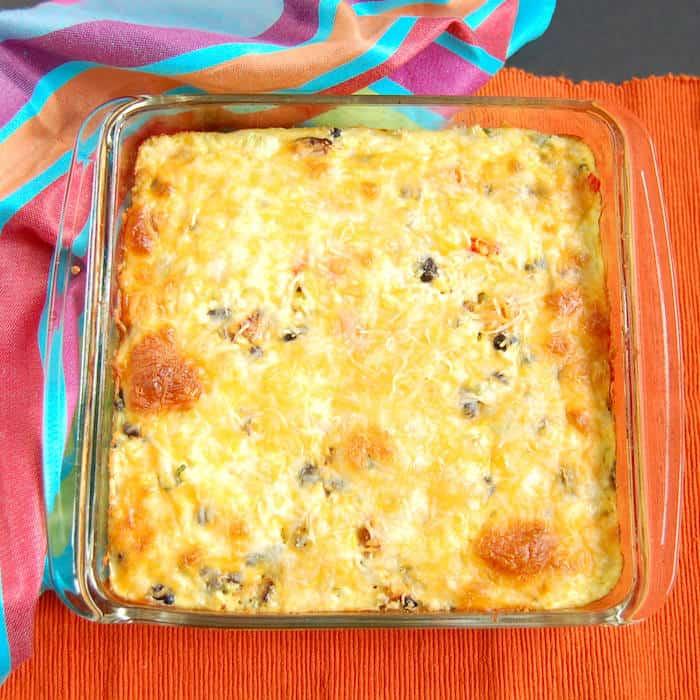 Southwestern Cauliflower Rice Casserole {Gluten-Free, Vegetarian}