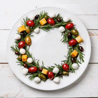 Edible Rosemary Olive Wreath Appetizer