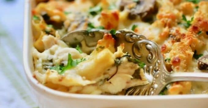 Easy Chicken Mushroom Marsala Pasta