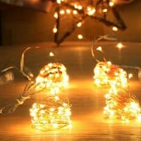 Homeleo 4-Pack 50 Led Battery Operated Mini String Lights
