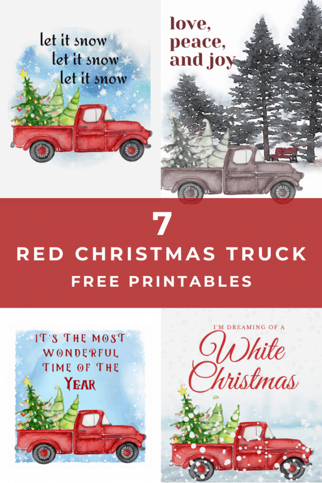 7-Red-Christmas-Truck-Free-Printables