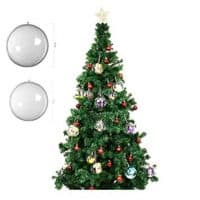Clear Plastic Christmas Ornaments Balls Bulk