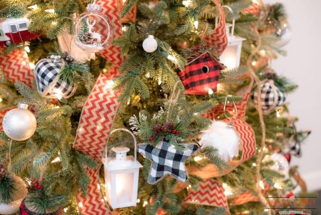 Lanterns on Tree - Glamping Christmas Decor