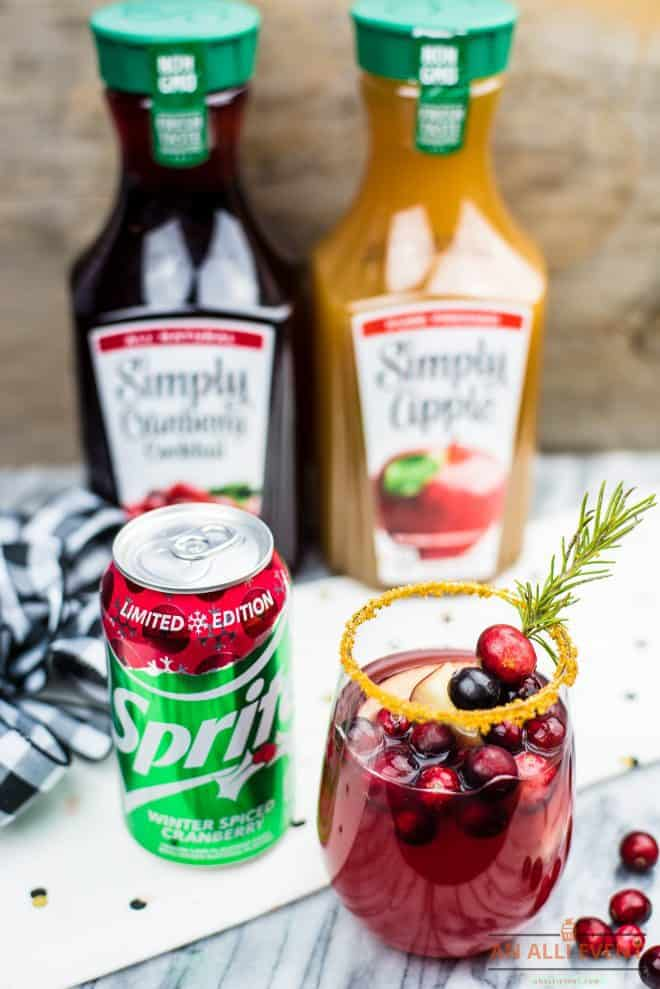 How To Make Cranberry Apple Spritzer Mocktail